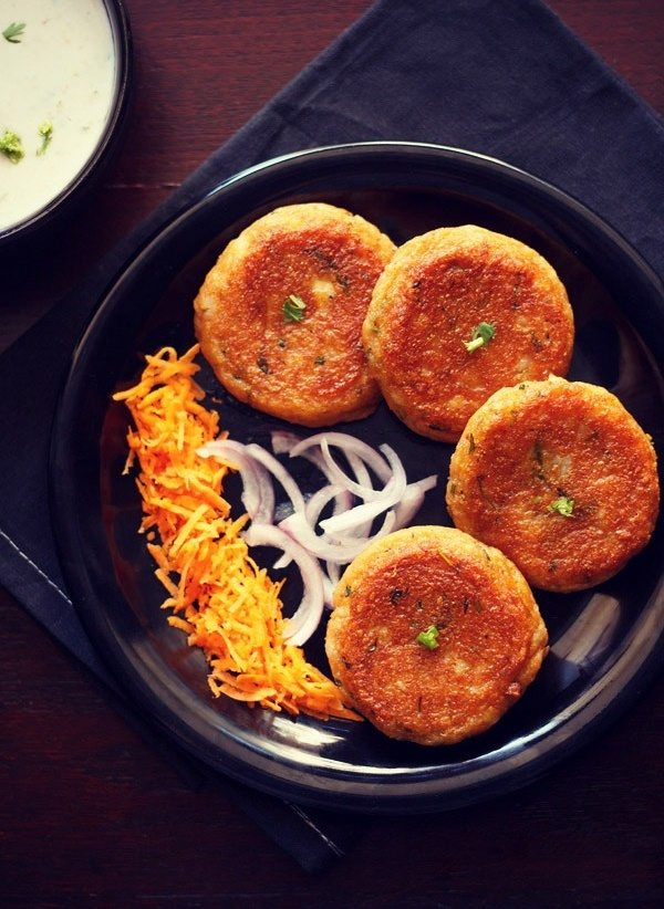 veg tikki recipes, patties recipes, veg cutlet recipes