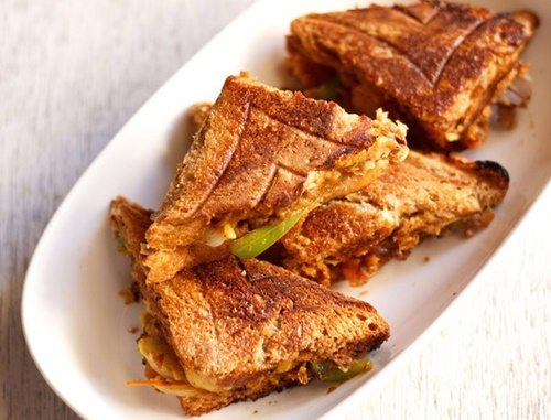 chana masala toast recipe