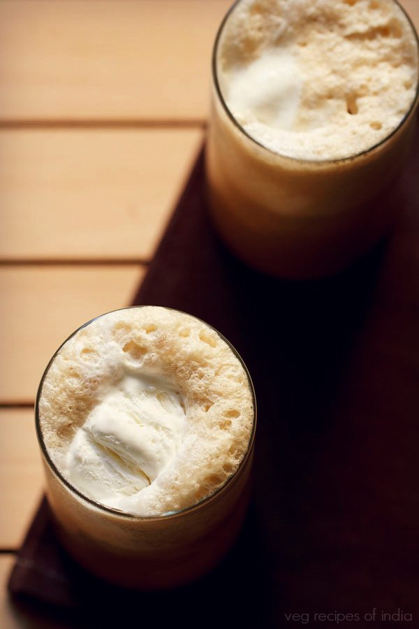 coffee milkshake with ice cream