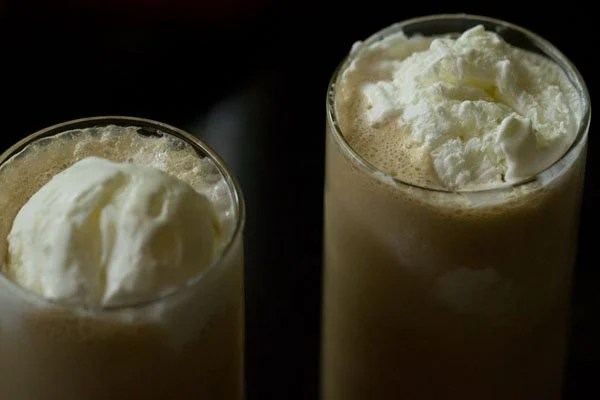 making cold coffee with ice cream recipe
