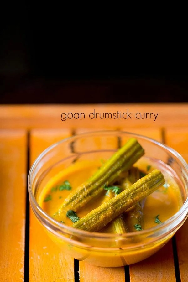 goan drumstick curry, drumstick coconut curry