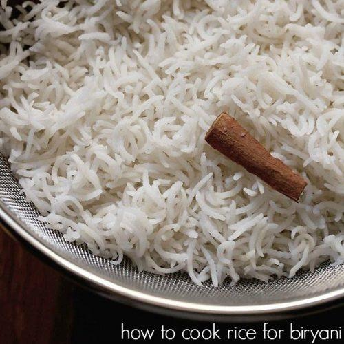 how to cook basmati rice for biryani recipe