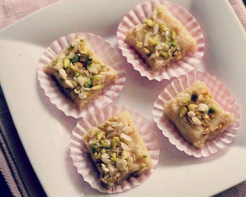 paneer barfi recipe