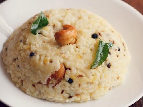 Ven Pongal Recipe How To Make Pongal Recipe Khara Pongal