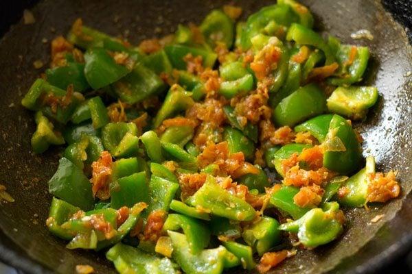 cooking capsicum
