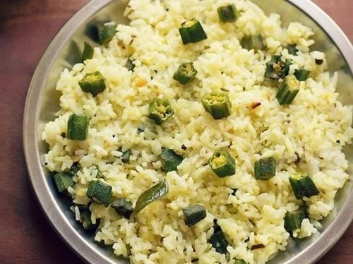 bhindi rice recipe