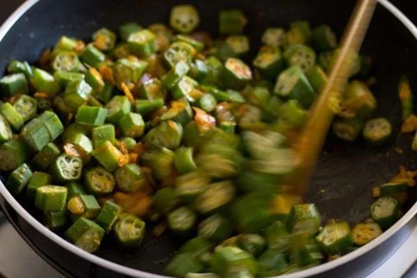 making ladies finger fry recipe