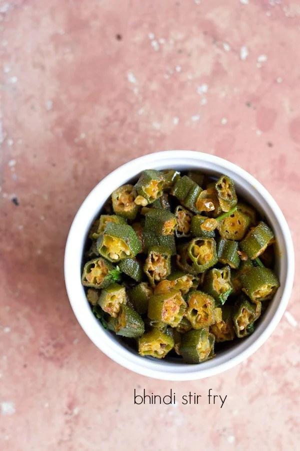 ladies finger fry, bhindi fry