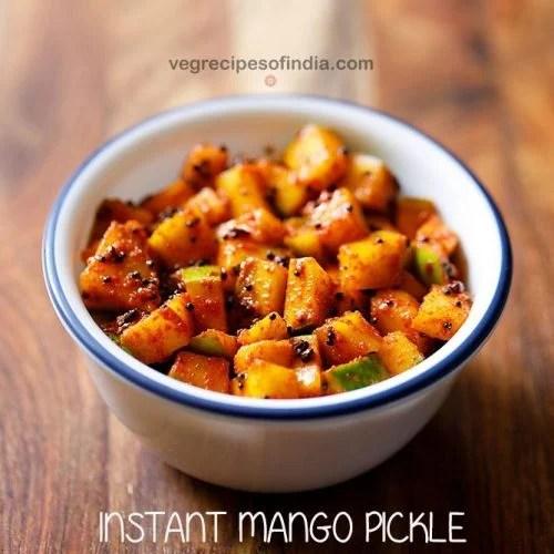instant mango pickle recipe, mango pickle kerala style