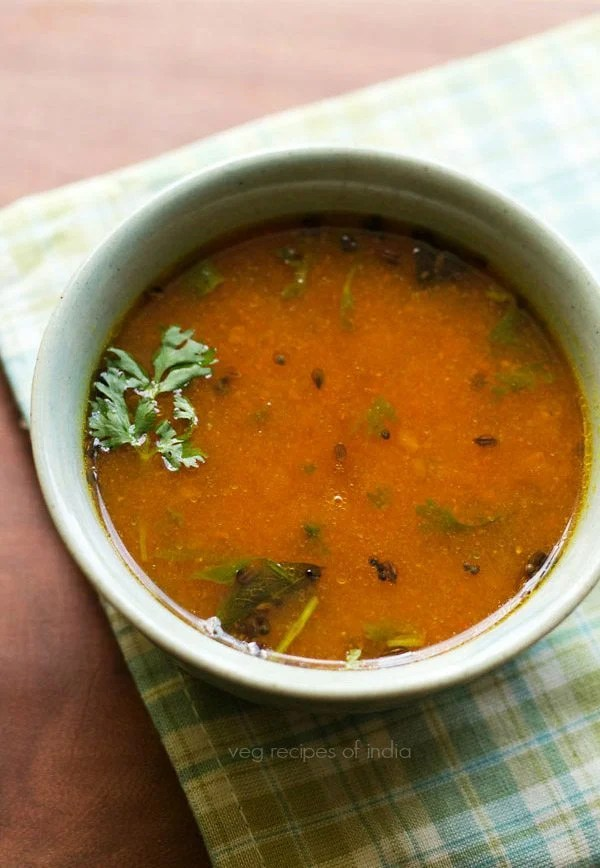 tomato charu recipe, Andhra tomato rasam recipe