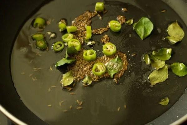 green chilli for cabbage bhaji