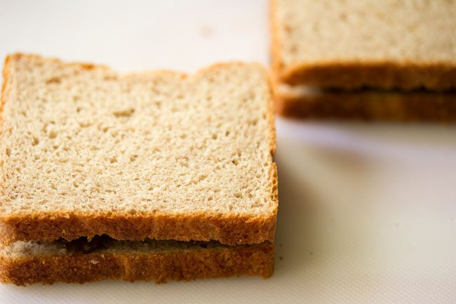 preparing mushroom sandwich recipe
