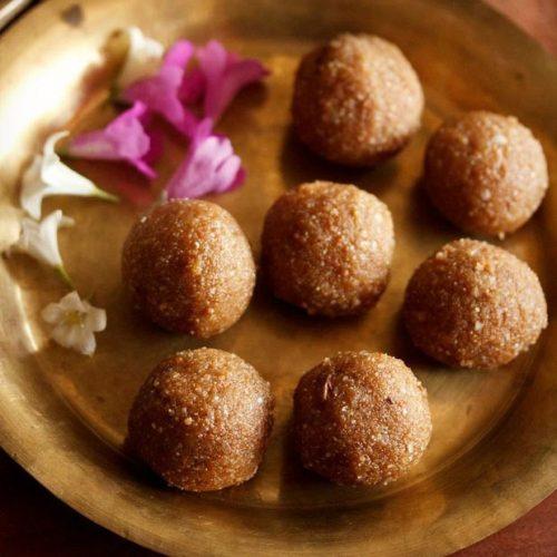 aval laddu recipe, poha laddu recipe, atukula laddu recipe