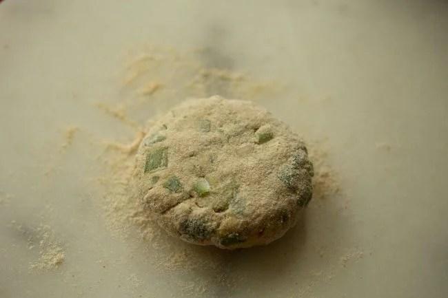 dough for spring onion paratha recipe