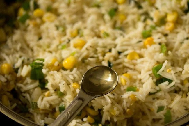 making sweet corn fried rice recipe