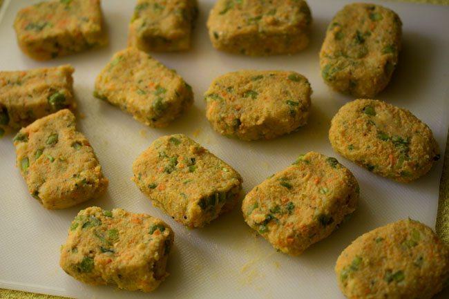 making veg nuggets recipe