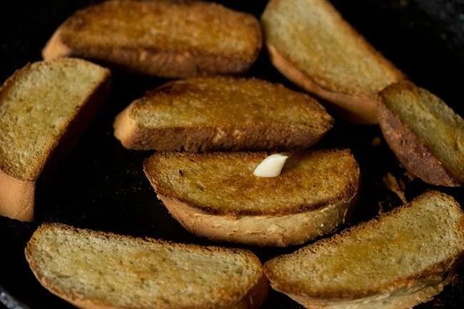 making avocado garlic toast recipe