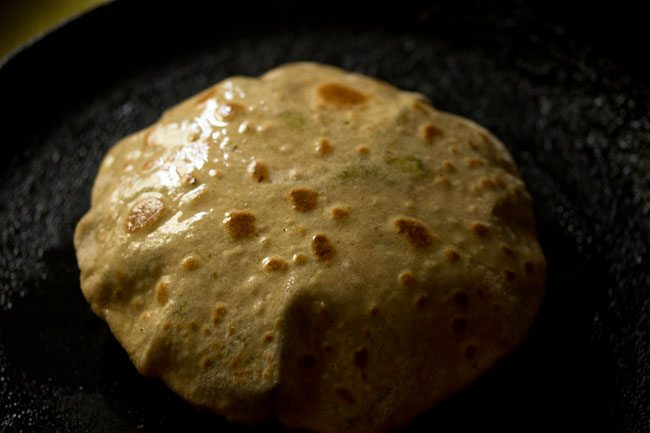 preparing broccoli paratha recipe