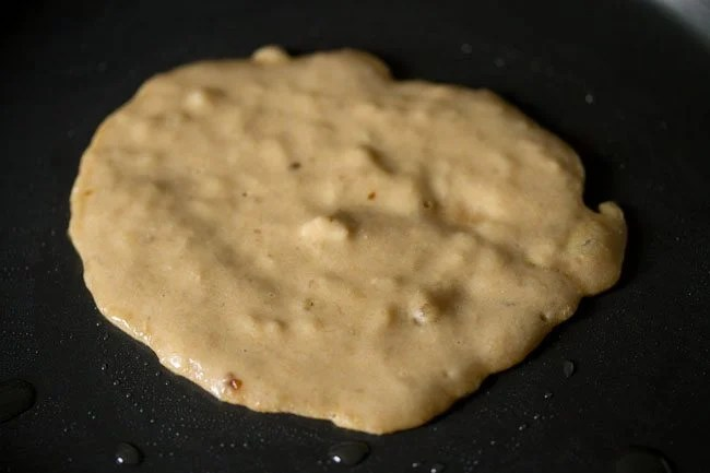 batter to prepare eggless banana pancake recipe