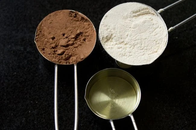 ingredients for eggless brownie recipe