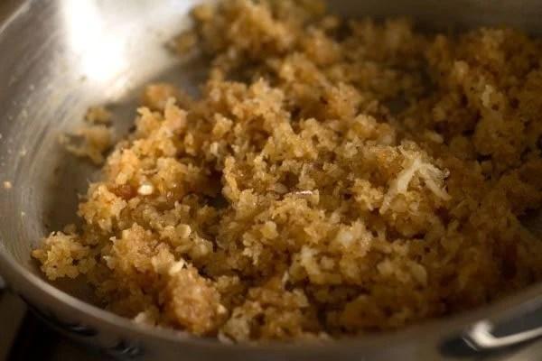 preparing Goan nevris recipe
