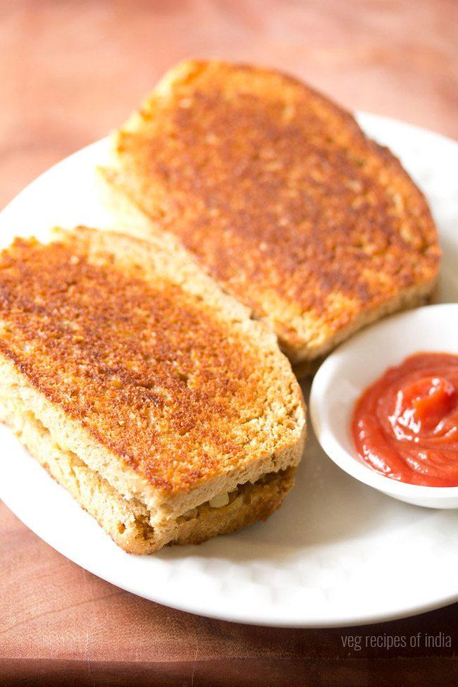 grilled potato sandwich on tawa