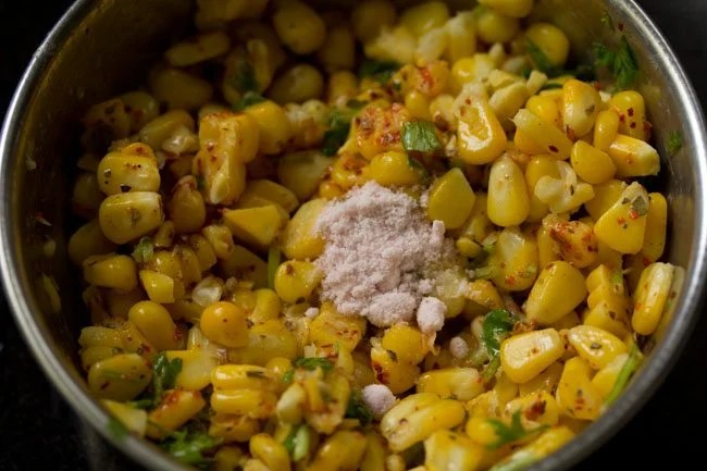 making masala sweet corn recipe