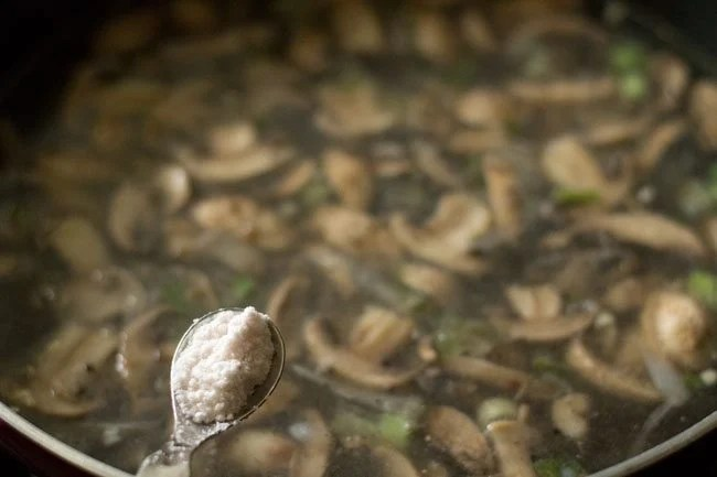 salt for mushroom soup recipe