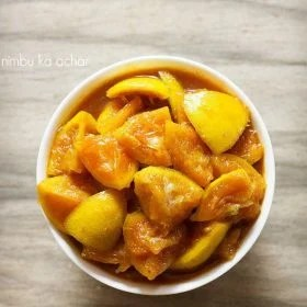 nimbu ka achar recipe, lemon pickle recipe