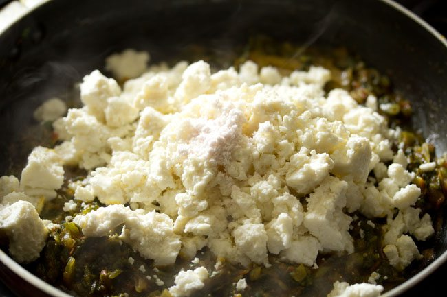 paneer for making paneer palak bhurji recipe