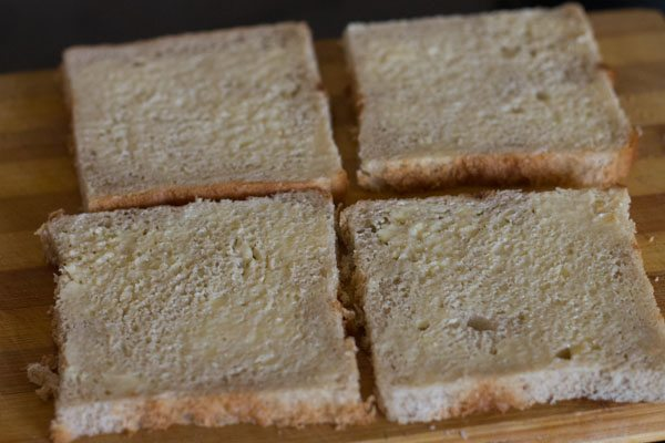 butter for paneer bhurji toast recipe