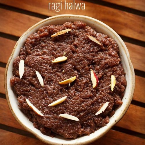 ragi halwa recipe, nachni halwa recipe