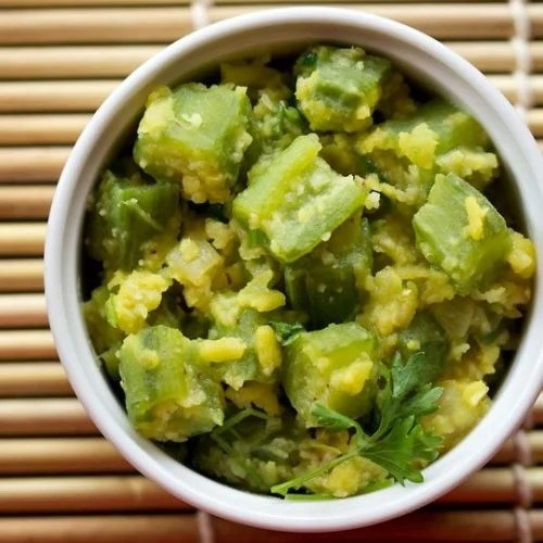 ridge gourd recipe, turai recipe, shirali bhaji, dodka bhaji recipe