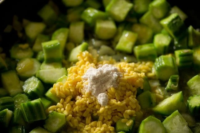 salt to prepare ridge gourd bhaji recipe