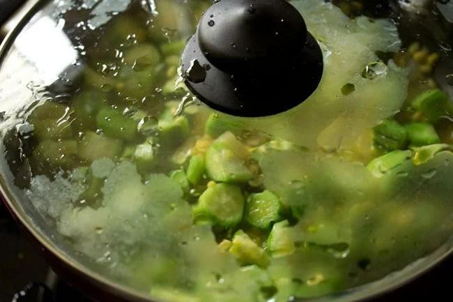 making ridge gourd bhaji recipe