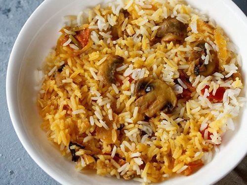 Ambur biryani recipe with mushrooms