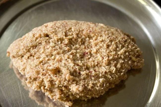 dough for making kaju badam burfi recipe