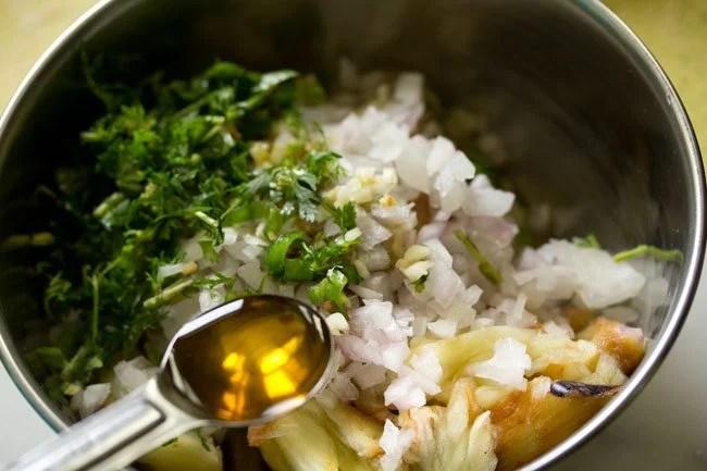 lemon juice for baingan chokha recipe
