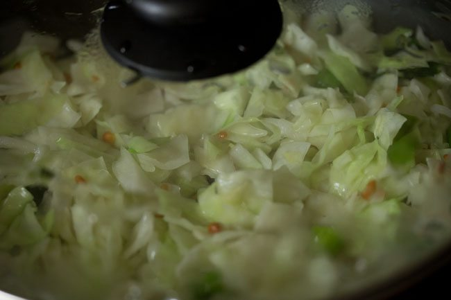 making cabbage pachadi recipe