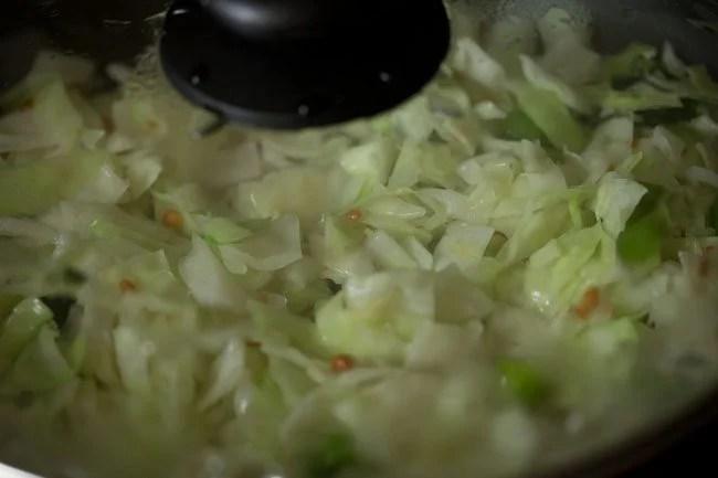 making cabbage pachadi recipe