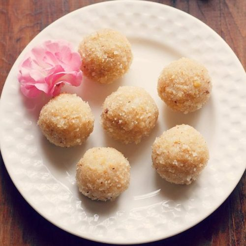 coconut ladoo recipe with khoya or mawa