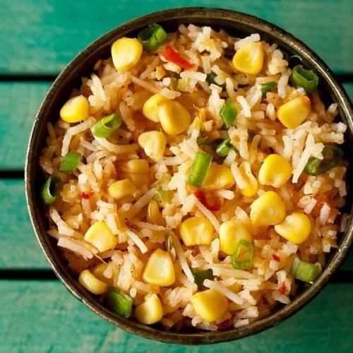 sweet corn schezwan fried rice recipe