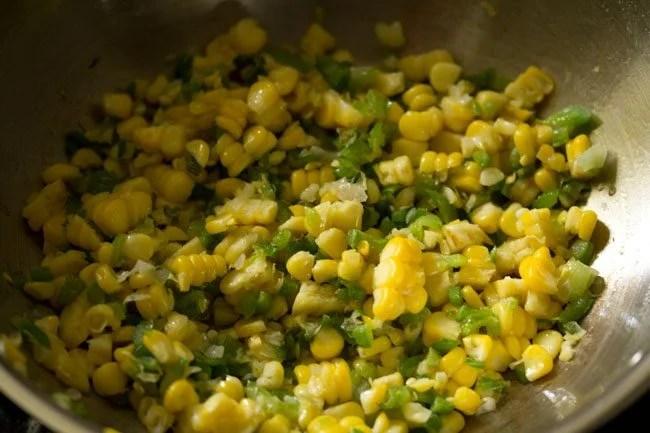 corn for making schezwan fried rice recipe