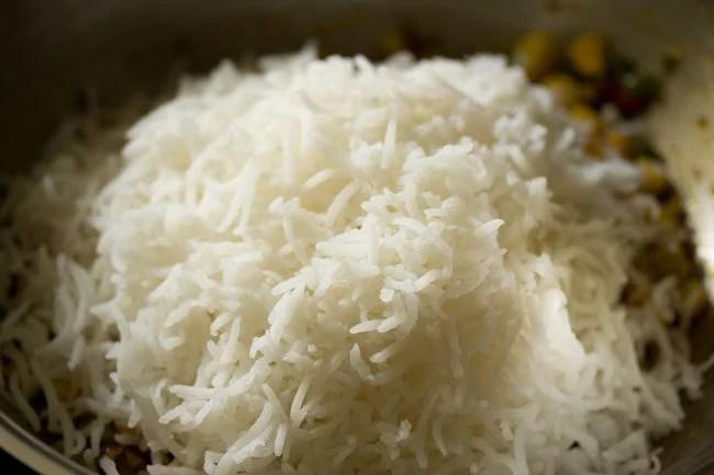 rice for making schezwan fried rice recipe