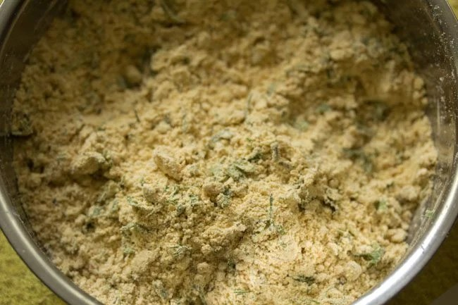 preparing litti chokha recipe