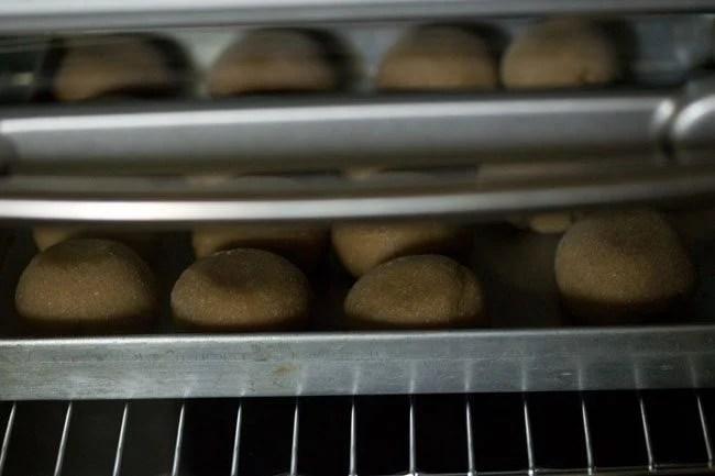 baking litti - litti chokha recipe