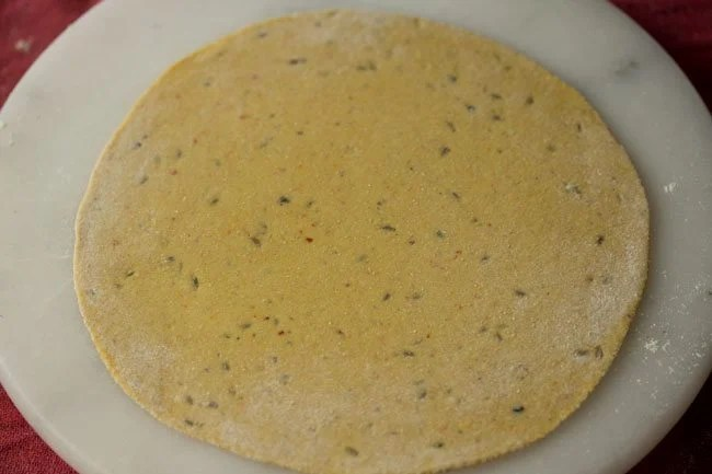 rolled paratha for making masala paratha recipe