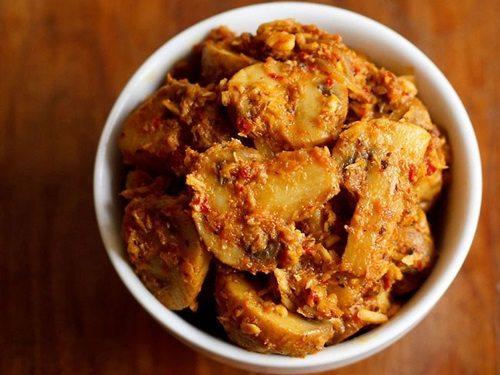 Goan style mushroom masala curry recipe