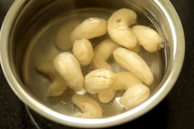 cashews for paneer curry recipe