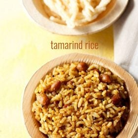 tamarind rice, puliyodharai recipe